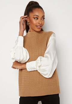 ONLY Vema S/L Vest Knit Cartouche Bubbleroom.no