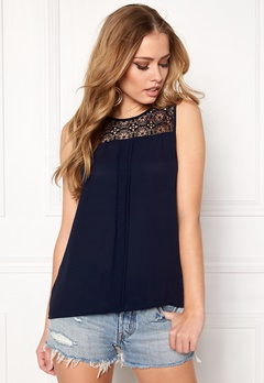 ONLY Venice s/l Lace Top Night Sky Bubbleroom.no
