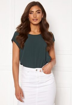 ONLY Vic S/S Solid Top Green Gables Bubbleroom.no