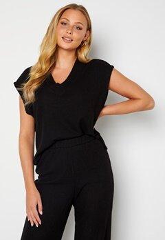 ONLY Vilda S/L Vest Black Bubbleroom.no