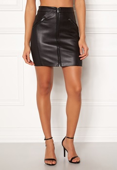 ONLY Violet Faux Leather Skirt Black Bubbleroom.no