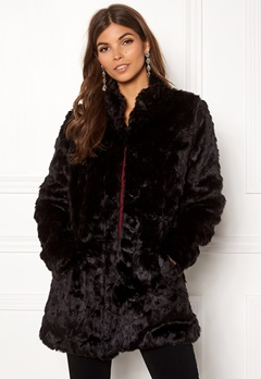 ONLY Viva Fur Coat Black Bubbleroom.no