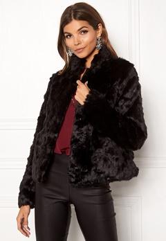 ONLY Viva Fur Jacket Black Bubbleroom.no