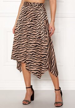 ONLY Zebra Skirt Tan Bubbleroom.no
