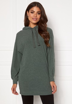 ONLY Zoe L/S Sweat Dress Balsam Green Bubbleroom.no