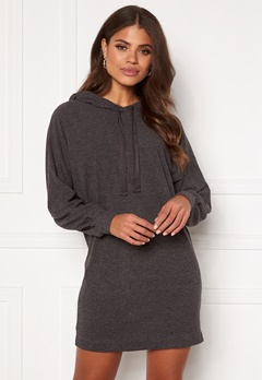 ONLY Zoe L/S Sweat Dress Dark Grey Melange Bubbleroom.no