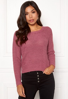 ONLY Geena L/S Pullover Rose Wine Bubbleroom.no