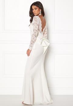 Goddiva Open Back Lace Dress White Bubbleroom.no