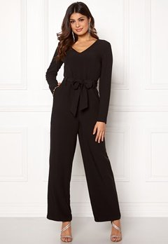 Pieces Albia LS Jumpsuit Black Bubbleroom.no
