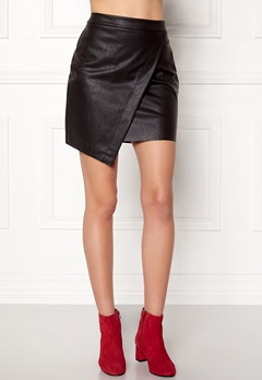 Pieces Alma Faux Leather Skirt Black Bubbleroom.no