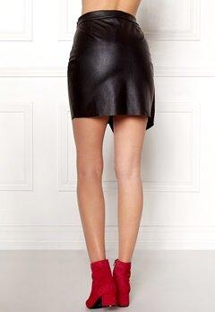 Pieces Alma Faux Leather Skirt Black Bubbleroom.no