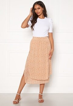 Pieces Anabelle HW Midi Skirt Apricot AOP Flower Bubbleroom.no