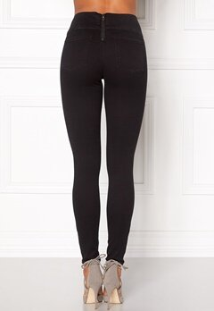 Pieces Betty High Waist Jeggings Black Bubbleroom.no