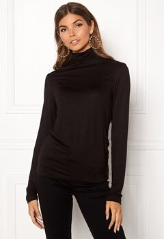 Pieces Billo LS Rollneck Top Black Bubbleroom.no