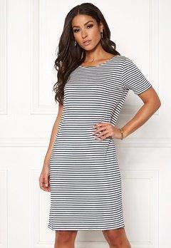 Pieces Billo SS Dress Bright White/Stripes Bubbleroom.no