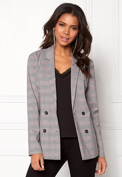 Pieces Carla LS Blazer Light Grey Melange Bubbleroom.no