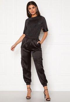 Pieces Carly HW Pants Black Bubbleroom.no