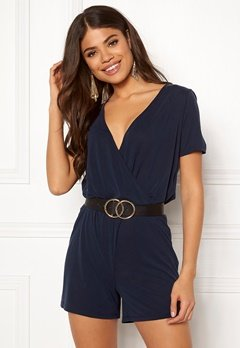 Pieces Ceau Wrap Playsuit Night Sky Bubbleroom.no
