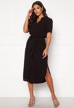 Pieces Cecilie SS Long Dress Black Bubbleroom.no
