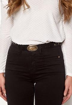 Pieces Dalena Waist Belt Black/Gold Bubbleroom.no