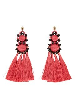 Pieces Dalgas Earrings Rouge Red Bubbleroom.no