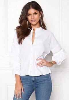 Pieces Dalua 3/4 Shirt Bright White Bubbleroom.no