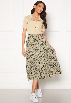 Pieces Dua HW Midi Skirt Desert Sage Bubbleroom.no