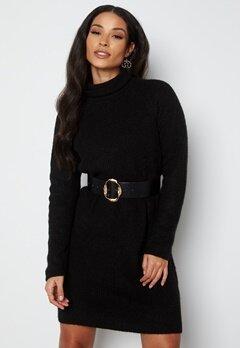 Pieces Ellen LS High Neck Knit Dress Black bubbleroom.no