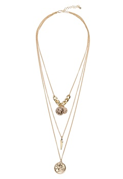 Pieces Elsa Combi Necklace Gold Bubbleroom.no
