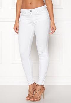 Pieces Five Delly B300 MW Jeans Bright White Bubbleroom.no
