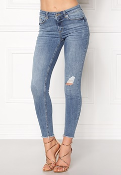 Pieces Five Delly Cropped Jeans Light Blue Denim Bubbleroom.no