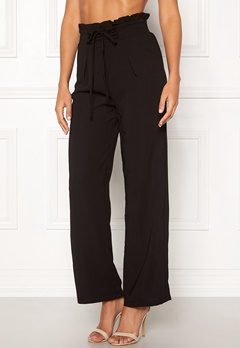 Pieces Francine HW Straight Pant Black Bubbleroom.no