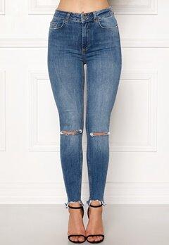Pieces Highfive Delly Jeans Medium Blue Denim Bubbleroom.no