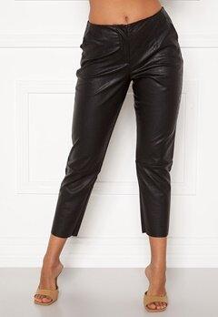 Pieces Ivina MW Cropped Pants Black Bubbleroom.no
