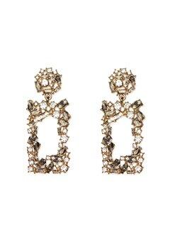 Pieces Janet Earrings Gold Colour Bubbleroom.no