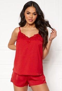 Pieces Jessica Nightwear Set Racing Red Bubbleroom.no