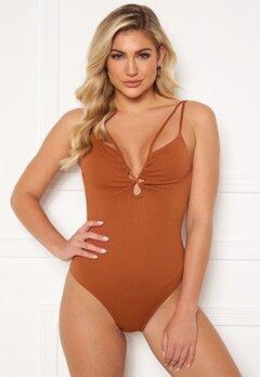 Pieces June Swimsuit Ginger Bread Bubbleroom.no
