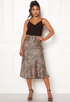 Pieces Kaia Skirt Black/Leopard Bubbleroom.no