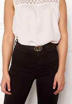 Pieces Karren Jeans Belt Black-Gold Bubbleroom.no