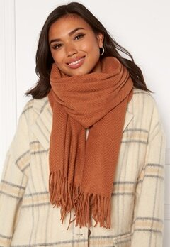 Pieces Kial New Long Scarf Mocha Bisque Bubbleroom.no