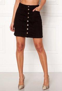 Pieces Kimmi Denim Skirt Black Denim Bubbleroom.no