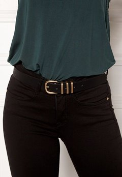 Pieces Lea Jeans Belt Black/Gold Bubbleroom.no