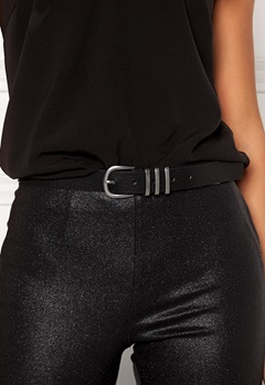 Pieces Lea Jeans Belt Black/Silver Bubbleroom.no