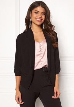 Pieces Leah 3/4 Blazer Black Bubbleroom.no