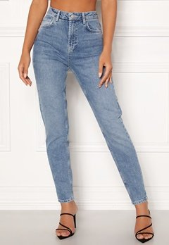 Pieces Leah Mom HW Ankle Jeans Light Blue Denim Bubbleroom.no