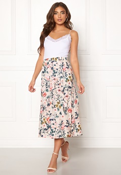 Pieces Liv HW Midi Skirt Lotus/Flowers Bubbleroom.no