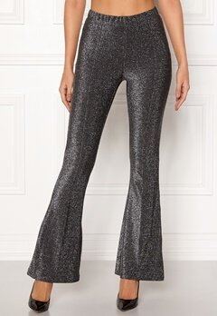 Pieces Liza Lurex Flared Pants Black Bubbleroom.no