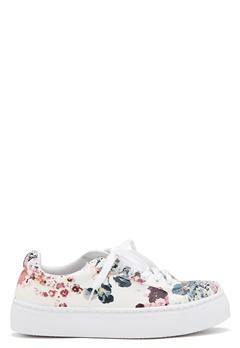 Pieces Moa Flower Sneaker White Bubbleroom.no