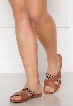 Pieces Naomi Leather Sandal Cognac Bubbleroom.no