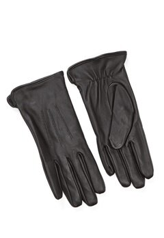 Pieces Nellie Leather Glove Black Bubbleroom.no